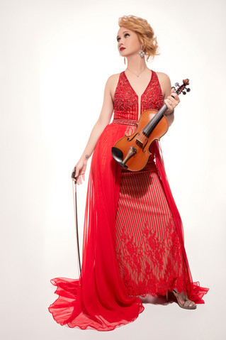 Sympholynn Violinist Red Gown Katherine