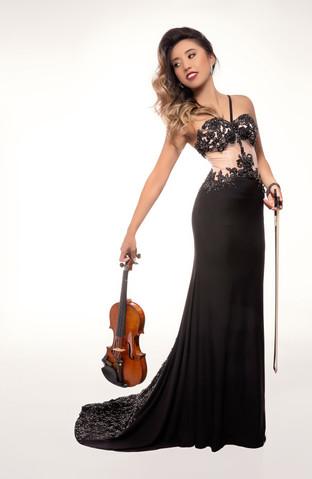 Sympholynn Violin Black Gown Waverly