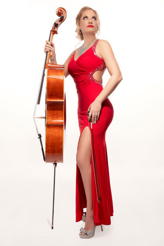 Sympholynn Cello Red Gown Ashley