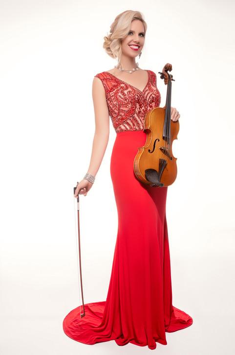 Sympholynn Viola Red Gown Jennifer