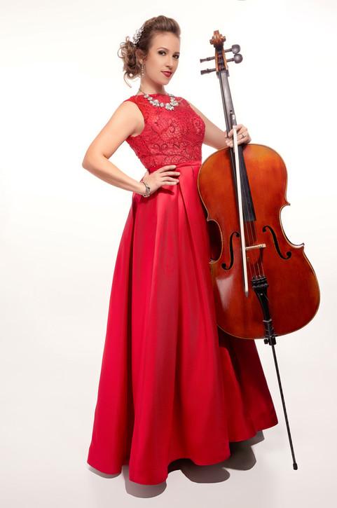 Sympholynn Cello Red Gown Mandy