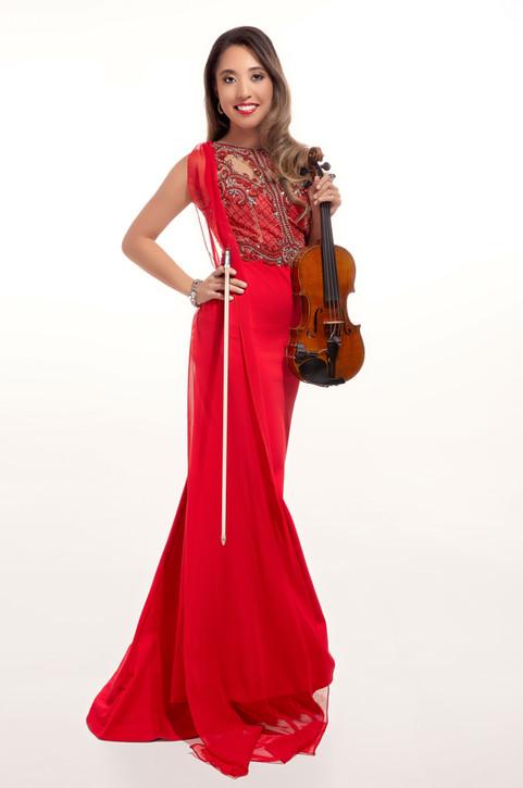 Sympholynn Violin Red Gown Waverly
