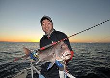 Perth Fishing Charter: Shikari Charters: Pink snapper caught on a jig