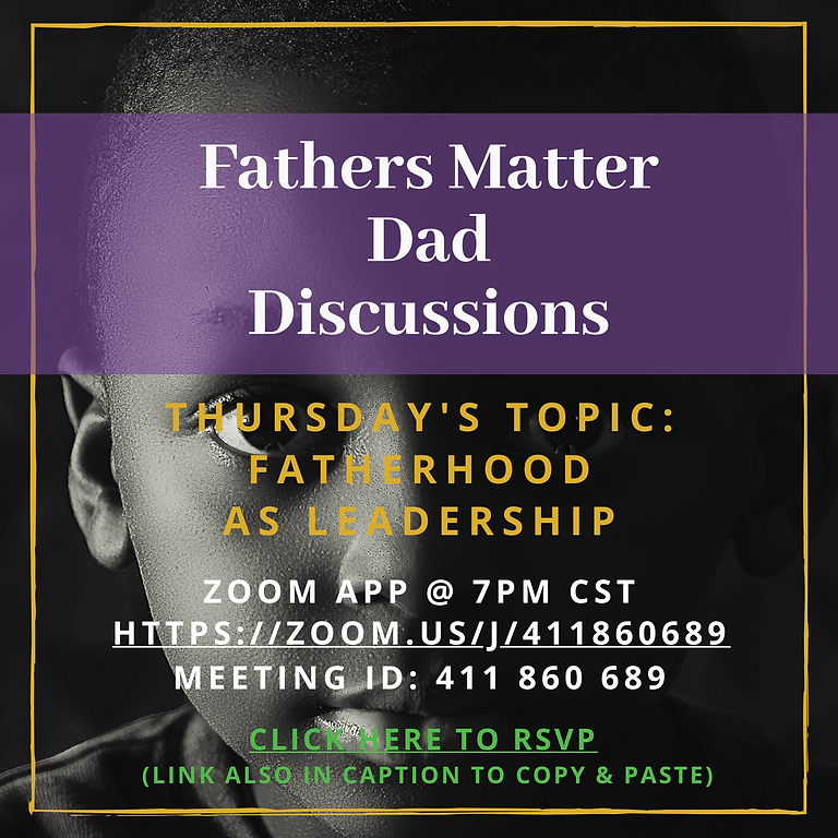 Fatherhood as Leadership