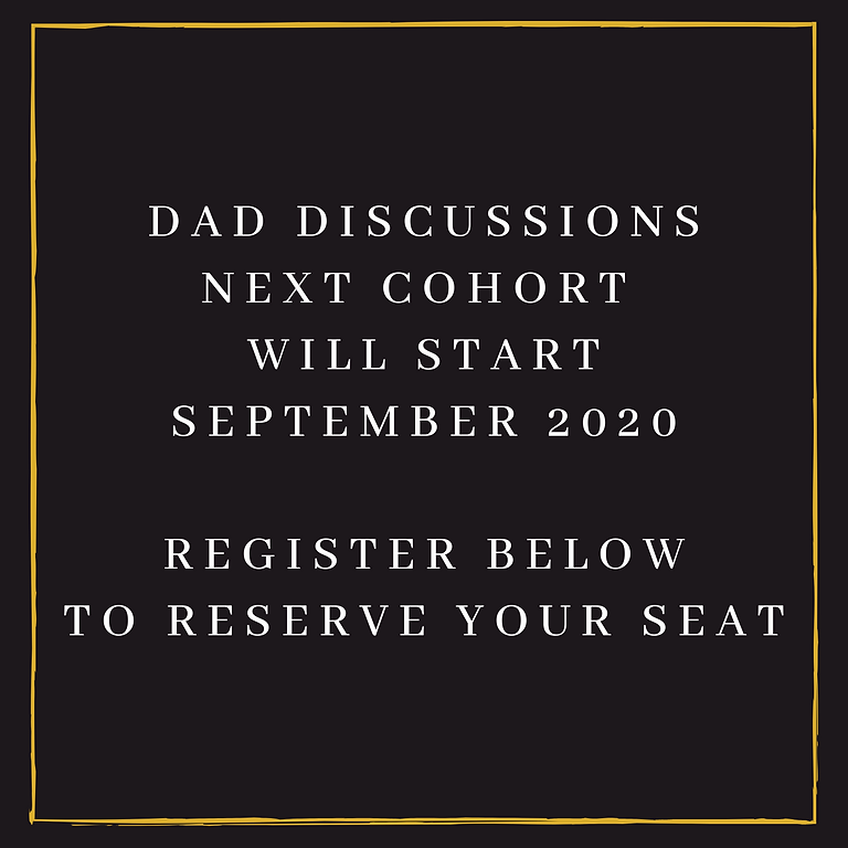 Dad Discusisons - September Cohort