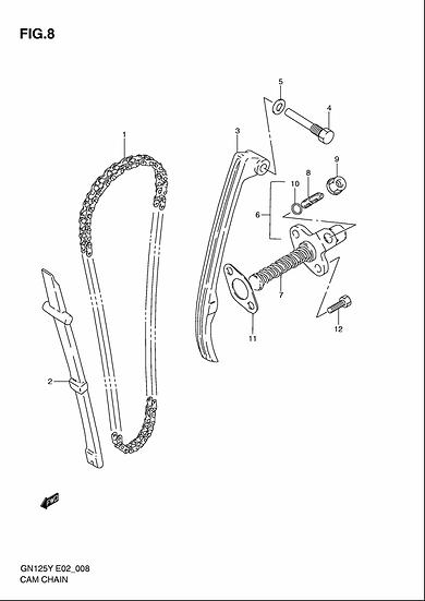GN125 - Cam chain