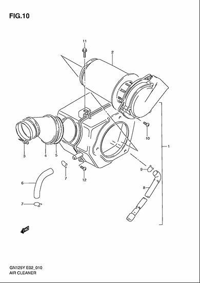 GN125 - Air Filter Unit