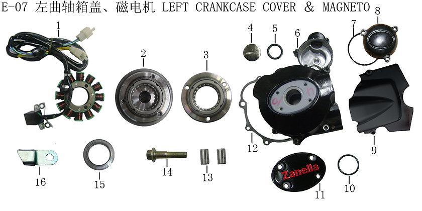 Left Crankcase Cover & Magneto