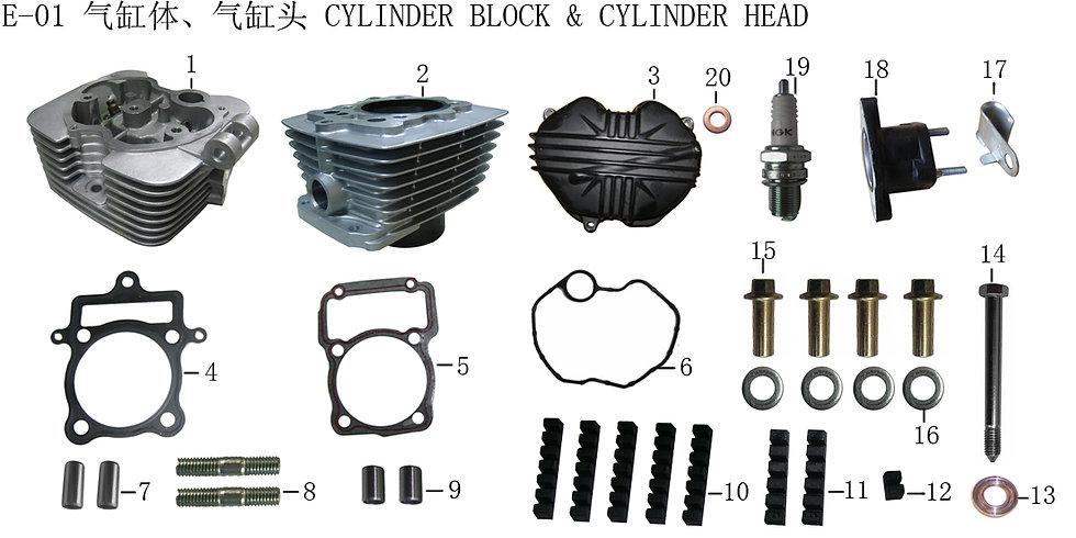 CG125-250 -Cylinder Block & Cylinder Head