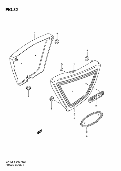 GN125- Side Cover