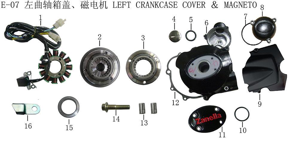 CG125-250 - Left Crankcase & Magneto