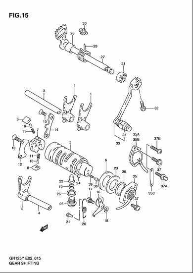 GN125 - Gearshift Mechanism