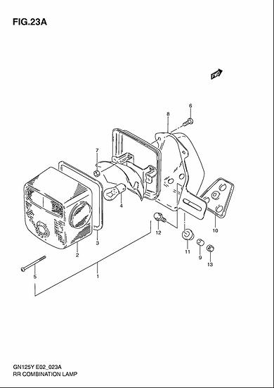 GN125 -Rear Lamp