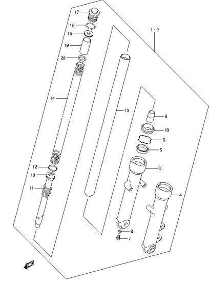 EN125 - Front Shock absorber