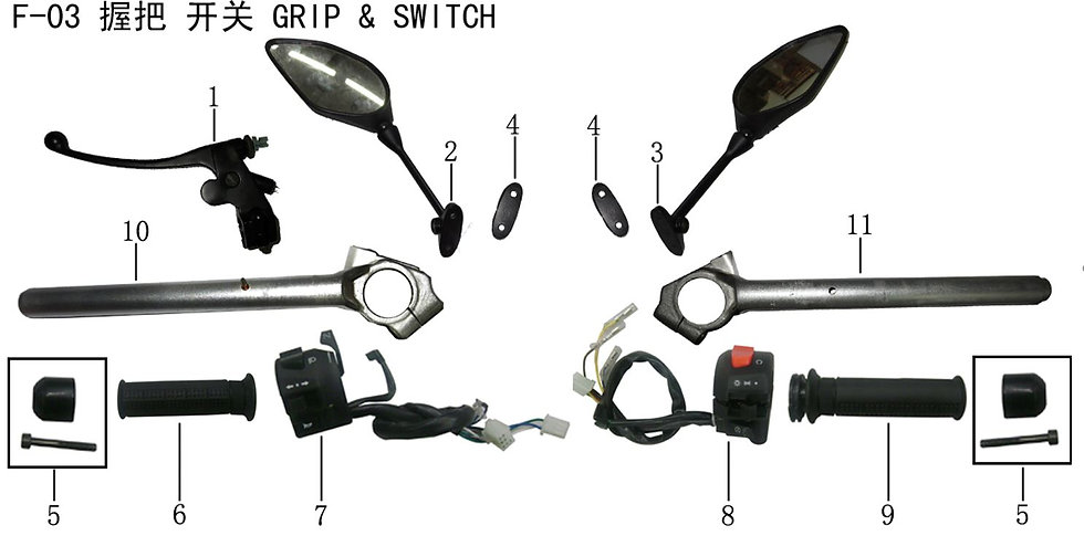 Handle Grip & Switch