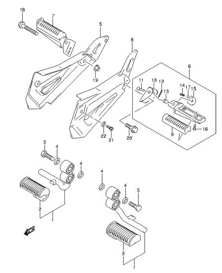 EN125 - Footrest