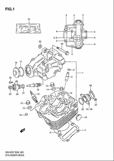 GN125 - Cylinder Head