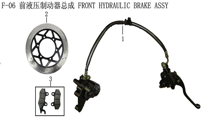 Front Hydraulic Brake Assy