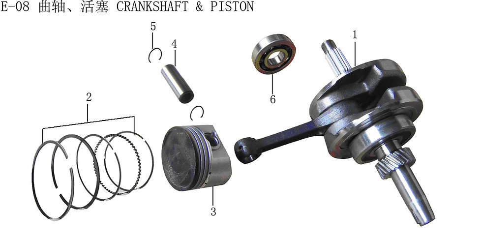 CG125-250 - Crankshaft & Piston