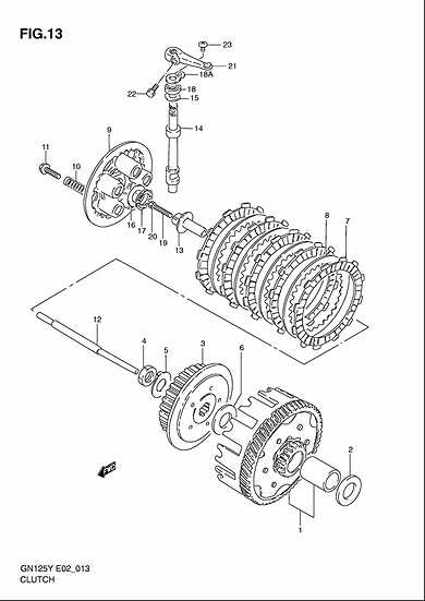 GN125 - Clutch Unit