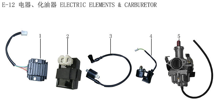 Electrical Elements And Carburetor