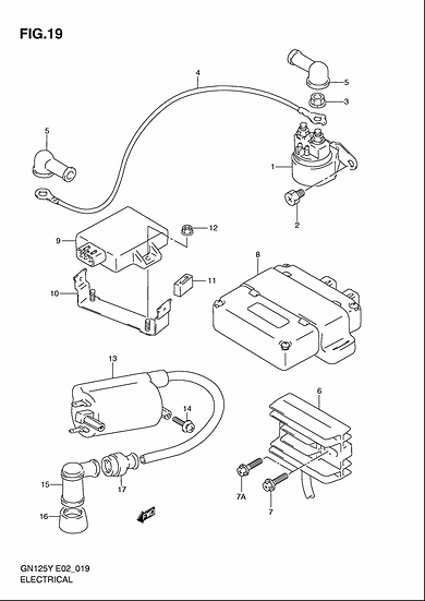 GN125 - Electrical Components
