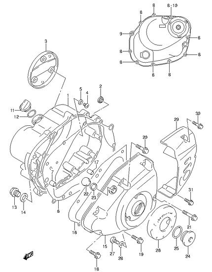 EN125 - Crankcase Cover
