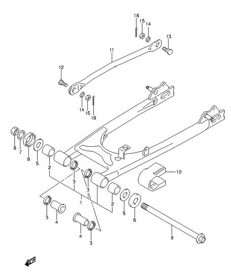 EN125 - Rear Arm