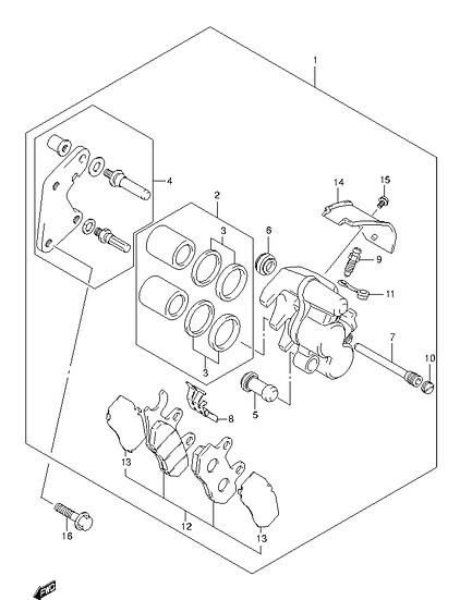 EN125 - Brake Caliper