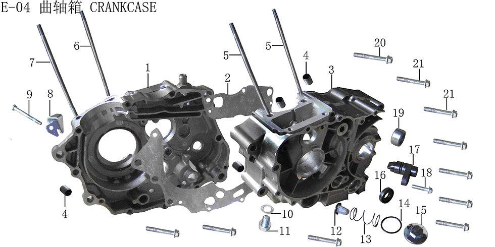 CG125-250 -Crankcase