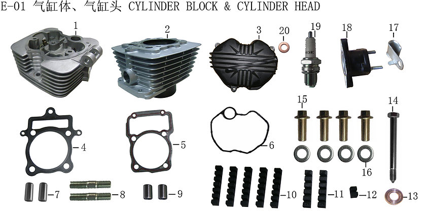 Cylinder Head and Cylinder Block