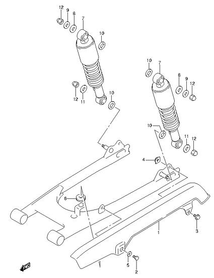EN125 - Rear Shock Absorber