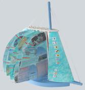 Sailing Art Sculpture Book