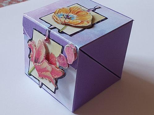 """Boîte """"cadeau d'assiette"""" mauve"""