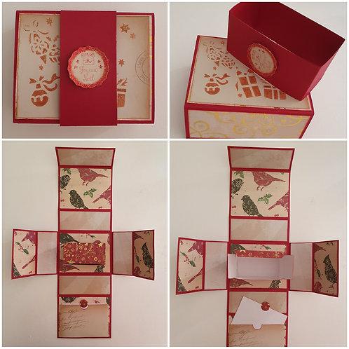 "Boîte rouge ""Joyeux Noël"""
