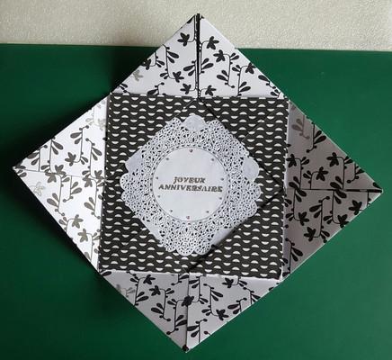 Carte anniversaire pliage origami