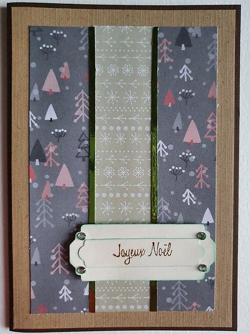 """carte """"joyeux Noël"""""""
