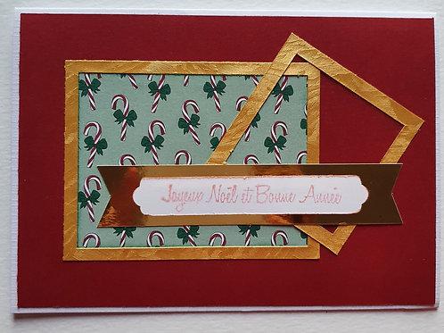 """carte """"joyeux Noël et bonne année"""""""