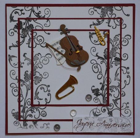 carte anniversaire pour un musicien
