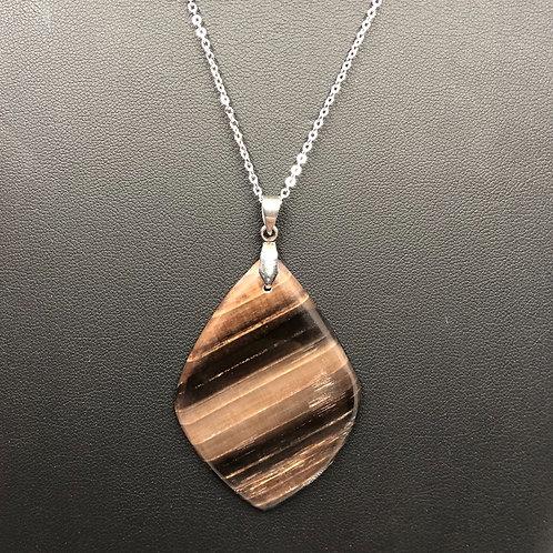 C30 - Petrified Wood Necklace