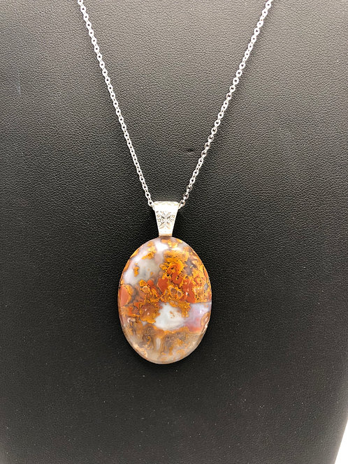 C06 - Moss Agate Necklace