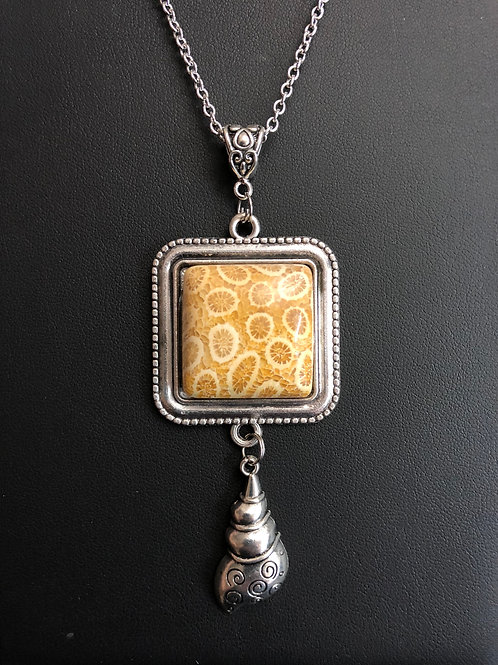 C02 - Indonesian Fossil Coral Necklace