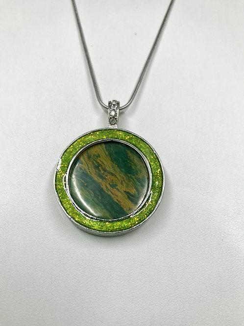 A37 - Green Verdite Necklace