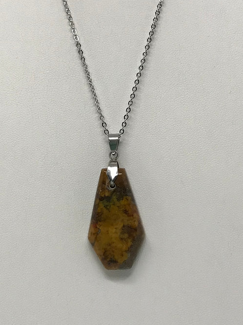 B03 - Bloody Basin Plume Agate Necklace