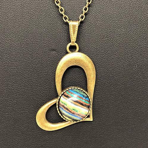 19N49 - Rainbow Calsilica Necklace