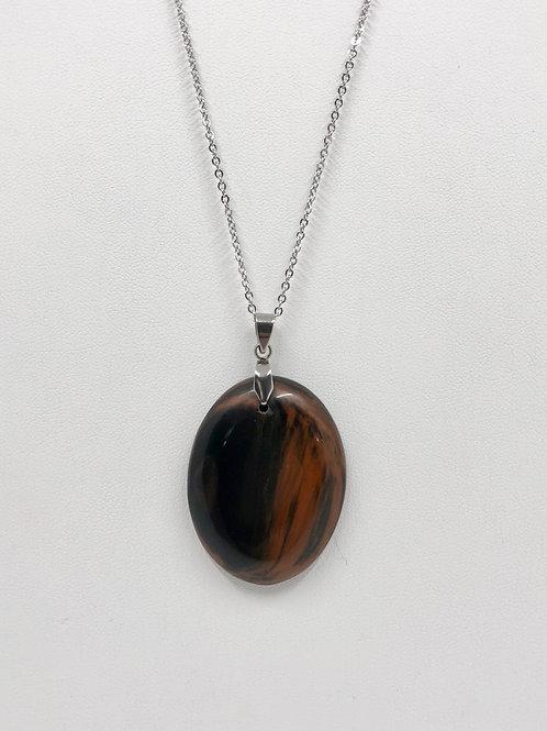 B55 - Mahogany Obsidian Necklace