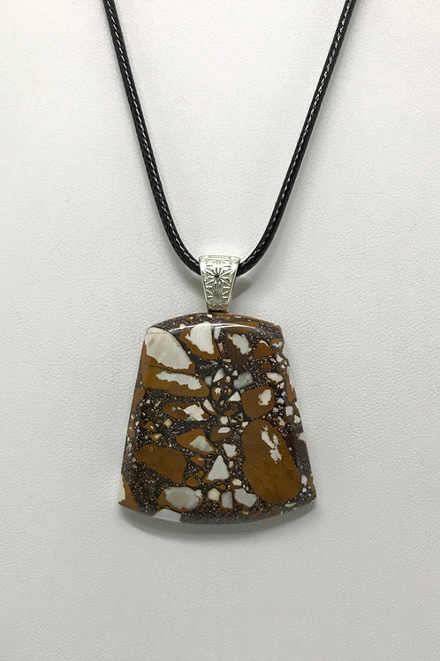 A99 - Pudding Stone Necklace