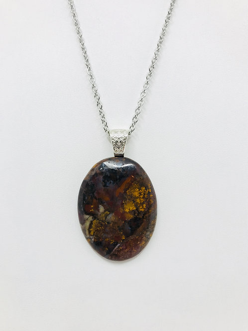 B27 - Moss Agate Necklace