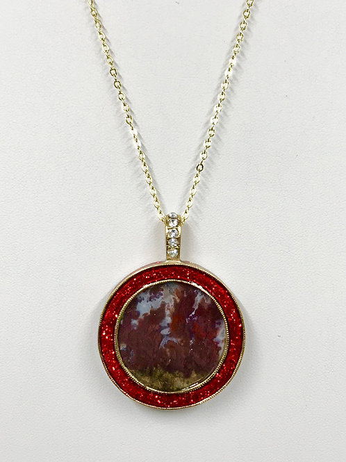 A39 - Cady Mt. Flame Agate Necklace