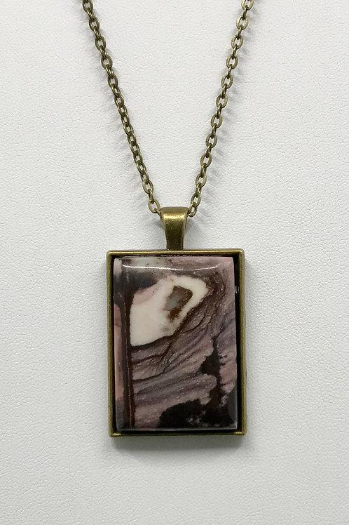 A89 - Outback Jasper Rectangle Necklace